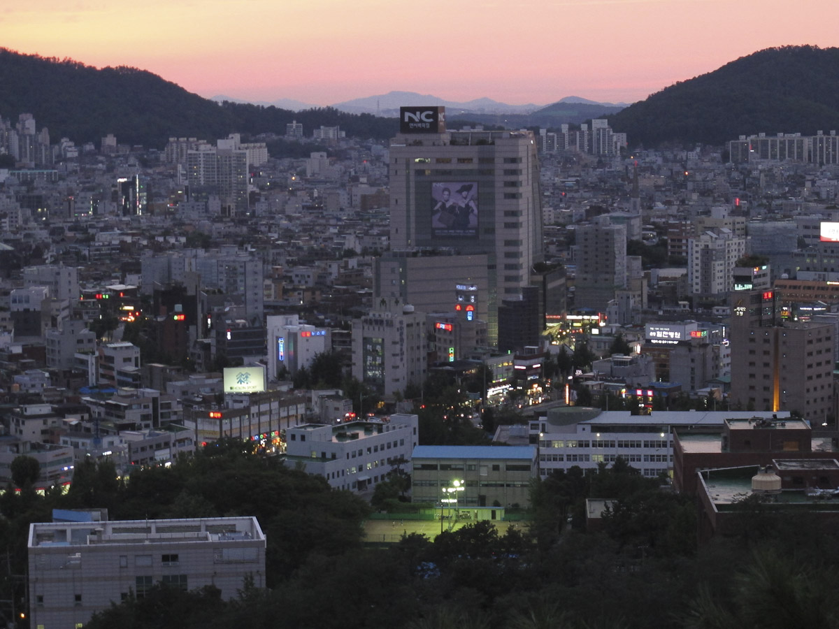 looking out over the city of Seoul